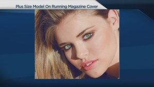 Plus-size model featured on running magazine cover