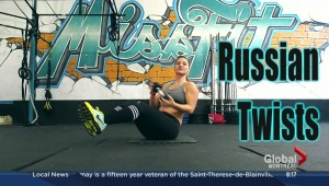 Using dumbells for ab workout