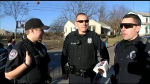 Ohio cops pool money to replace ramshackle basketball net for local kids