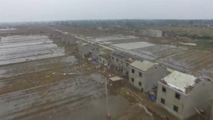 Drone footage captures shocking extent of tornado damage in China