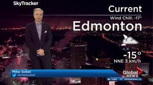 Edmonton early morning weather forecast: Friday, February 10, 2017
