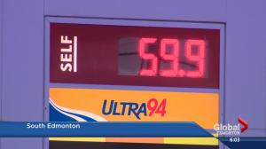 Edmonton sees lowest gas price in Canada
