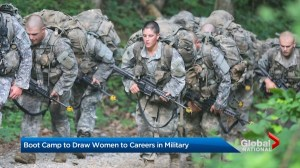 Boot camp to draw women to careers in military