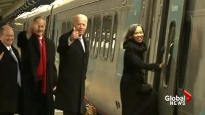 Trump inauguration: Joe Biden, wife depart DC on train