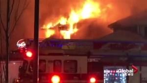Massive fire guts Douglas Glen home