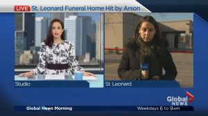 Suspected arson at Saint-Leonard funeral parlour Tuesday morning