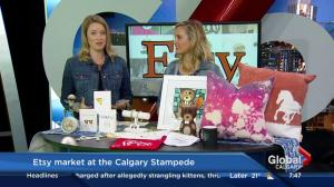 Etsy market at the Calgary Stampede