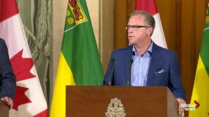 Premier Brad Wall talks about coordinating with federal government to address wildfire problem