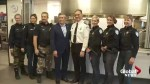 Montreal police serve dinner at Old Brewery Mission