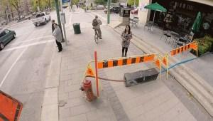 Squishy situation on Winnipeg's busy Broadway sidewalk