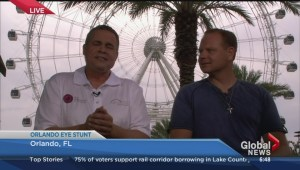 Nik Wallenda on his Orlando Eye high wire stunt
