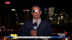 Solar eclipse over Calgary on Monday