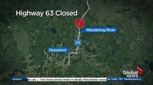 Highway 63 closed after chemical spill