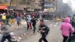 Footage of anti-government protesters clashing with police in Egypt