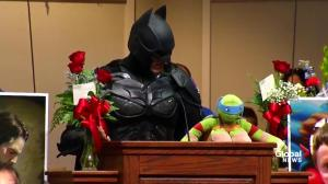 EXTENDED: Batman delivers touching speech at funeral for Jacob Hall