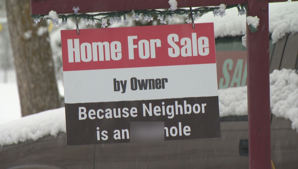 For Sale\u0027 sign in Kelowna with vulgar language Watch News Videos - forsale sign