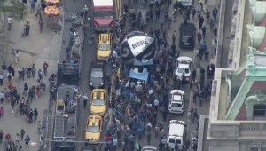 Aerial footage: Massive climate change protest held in New York