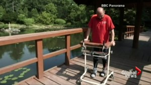 Paralyzed man walks again