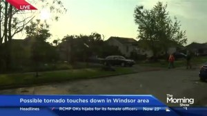 Windsor tornado witness describes 'roof of the bank was being sucked up'