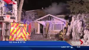 Edmonton house fire in northeast end