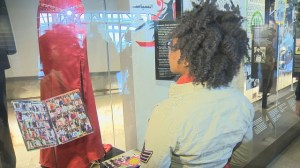 U.S. teen visits CMHR display featuring her courageous story of bridging a racial divide in Georgia