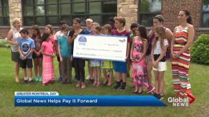 Edgewater students pay it forward with donation to West Island Palliative Care Residence