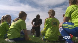 Former Team Canada soccer player visits southern Alberta for special skills camp