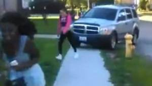 Teens sent scrambling after father responds to daughter's 'bullies' by trying to run them over