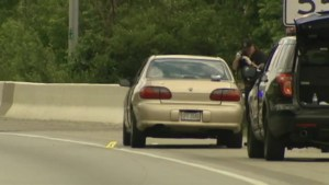 Terrifying ride for driver as more than 10 shots fired into car on Ohio Interstate