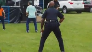 Dancing Toronto cop at Woodbine Jazz Fest