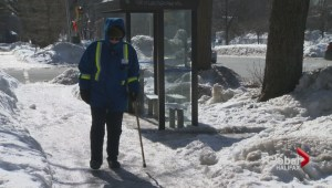 Protest planed for snowy sidewalks
