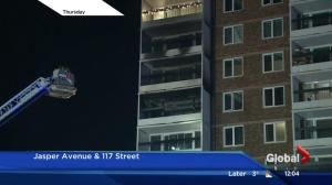Downtown Edmonton fire claims life