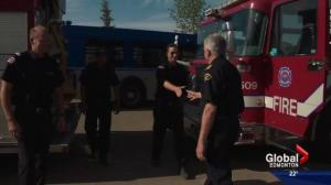 Edmonton firefighters return home from Fort McMurray
