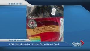 Roast Beef Recall