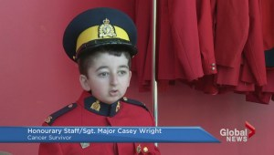 Casey Wright gets a personal RCMP tour