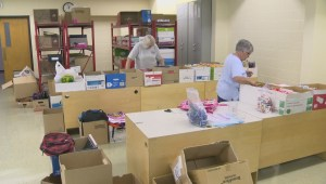 Gearing kids up for school one backpack at a time