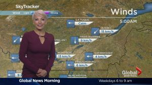 Global News Morning weather forecast: Thursday, October 27