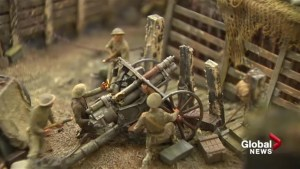 Diorama honouring Battle of Vimy Ridge revealed at Sussex, N.B. museum
