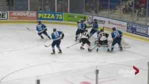 Calgary Hitmen double up Saskatoon Blades 4-2
