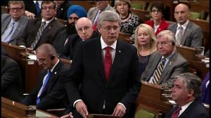 PM Harper says there will be no troops on the ground