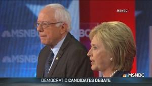 Bernie Sanders, Hillary Clinton go one-on-one in debate