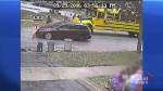 Video shows Ontario girl nearly struck by car getting off school bus