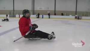 Canadian National Women's Sledge Hockey Team participates in N.S. training camp