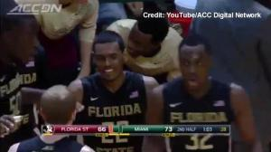 Canada's Xavier Rathan-Mayes scores 30 points in 4:38 during US college basketball game