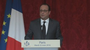 French president condemns Brussels attack