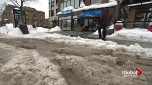 Icy roads, sidewalks in Quebec City