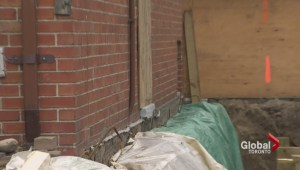 Excavation costs neighbouring homeowner sidewalk, door access
