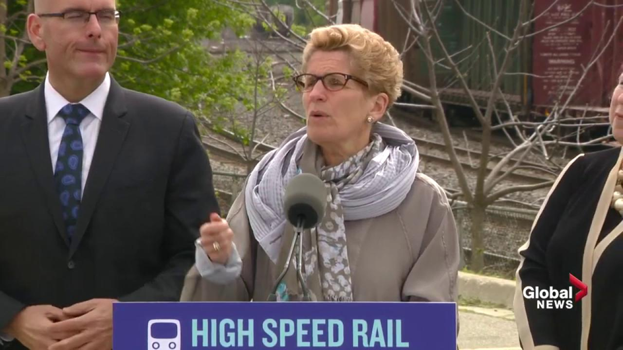 All aboard! Wynne to pay big bucks for high-speed rail