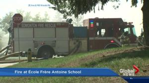Fire breaks out at south Edmonton school