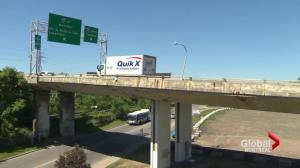 Safety concerns raised over crumbling West Island overpass